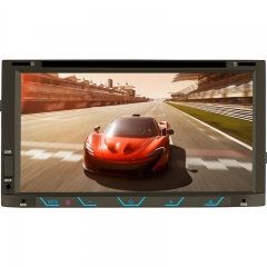 6117 7 Inch  Universal Double DIN Car DVD Player